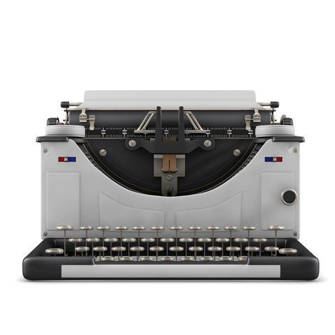 Typewriter isolated Fotografía