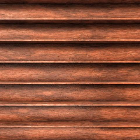 Wood shelves Fotografía