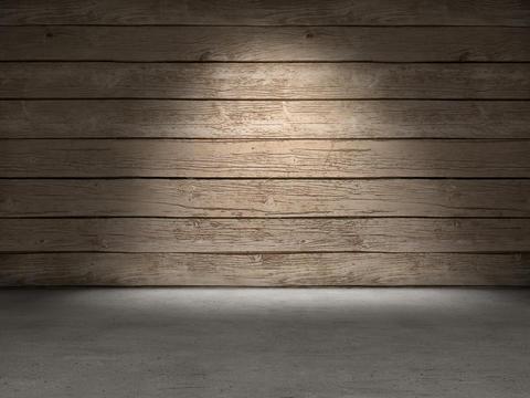 Wood wall concrete floor Fotografía