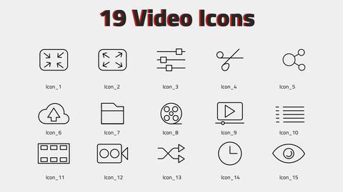 Video Icons モーショングラフィックステンプレート