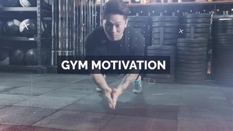 Fitness Motivation Apple Motion Template