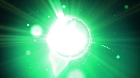 Green light flare loop animation Animation