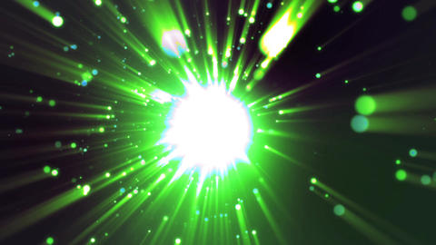 green Particle explosion animation Animation