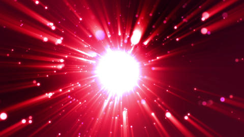 Particle Red light flare loop animation Videos animados