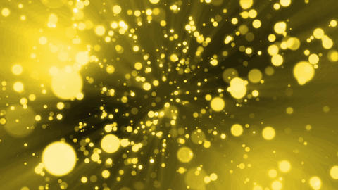 Particle gold light flare loop animation GIF