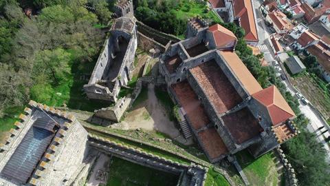Medieval Templar Knights Castle in Leiria Footage
