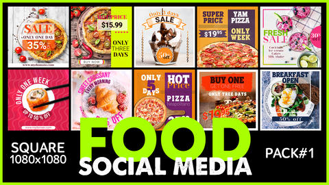 Social Media - FOOD After Effects Template