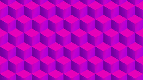 Isometric pink cubes pattern random transition including luma matte Animation