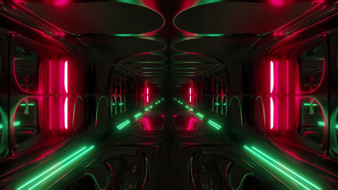 endless futuristic scifi science-fiction alien space tunnel corridor space CG動画