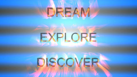 090 animated 3d text dream explore discovery Animation