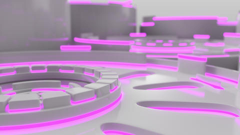 1026 Technological background loop with colorful glowing lines GIF