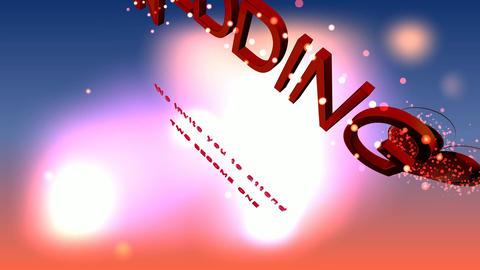 096 3d text wedding invitation Stock Video Footage