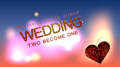 096 3d text wedding invitation Animation