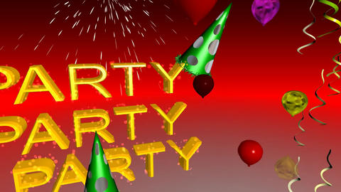 115 3D animated party and festival template in cartoon style Animation