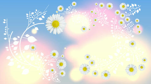 113 Animated template flowers growing up suitable for greeting and seasom background Animation