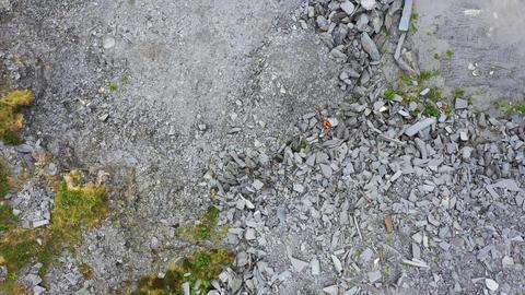 Aerial shot of slate quarry, Valentia Island, Ireland Live Action