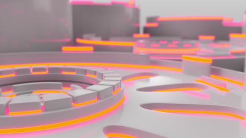 1032 Technological background loop with colorful glowing lines GIF