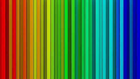 Rainbow gradient lines 3D render loopable animation Animation
