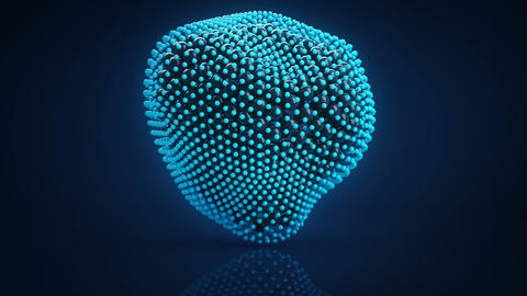 Cluster of spheres vibrating 3D render loopable Animation