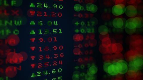 Digital Stock exchange panel shallow DOF loop Animation