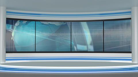 News TV Studio Set 197 - Virtual Background Loop Footage