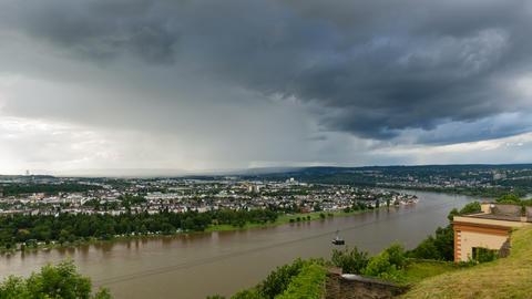 Koblenz Rhine Valley Weather Timelapse in 4K Footage