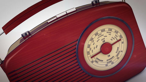 Old radio from 1950 and the years Animation