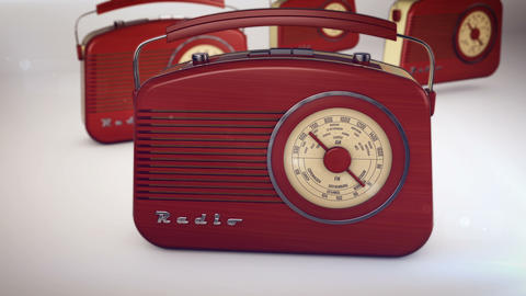 Retro portable radio Animation