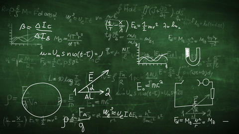 Formula doodle on chalkboard background Animation