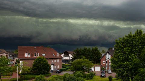 Approaching Thunderstorm Timelapse Footage