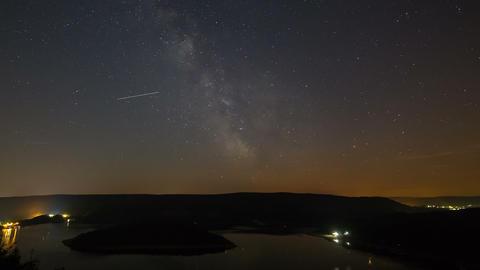 Milkyway Above Lake Timelapse 4K Footage