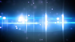 Particles and optical flares blue Animation