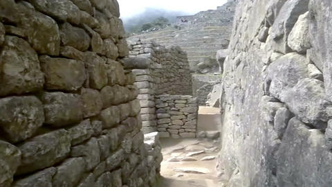 View of the ancient Inca City of Machu Picchu, Peru Live Action