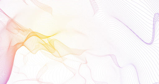 Pulsating Energy Lines as an Abstract Background Art Footage