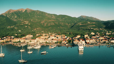 Aerial view of Nydri, a beautiful small town on the Lefkada Island, western GIF