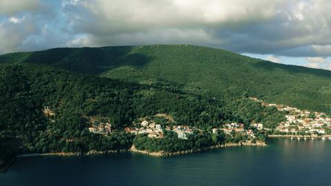 Aerial shot of Ithaca Island near Kioni village, Greece Photo