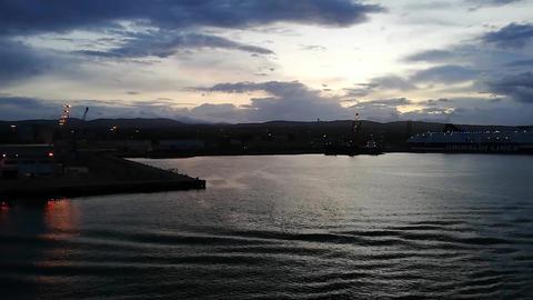Port of Civitavecchia in Sunrise time 4 Footage