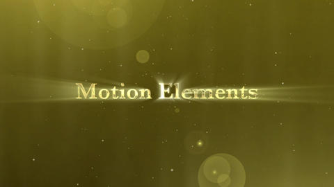 Golden Particle Title After Effects Template