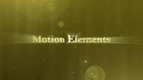 ゴールデンパーティクルタイトル(Golden Particle Title) After Effectsテンプレート
