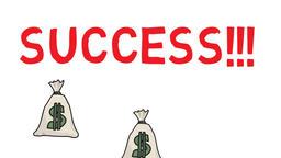 success money, felt pen drawn animation GIF