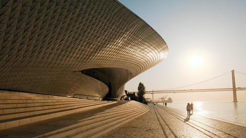 Museum of Art Architecture and Technology In Lisbon Portugal Footage