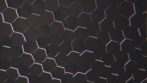 Motion dark black hex grid background, abstract background Animation
