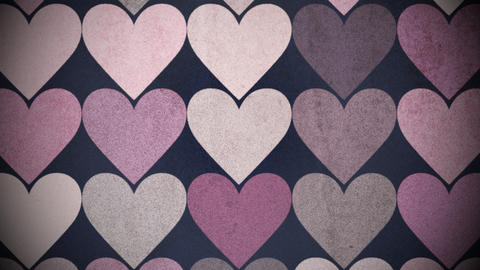 Motion colorful hearts pattern, abstract background, Stock Animation