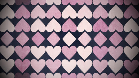Motion colorful hearts pattern, abstract background Animation