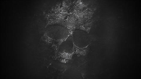 Mystical horror background with dark skull. Holiday halloween abstract backdrop Videos animados