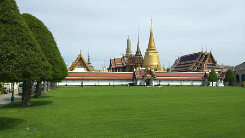 Phra Kaeo, Temple of the Emerald Buddha,Bangkok Thailand Live Action