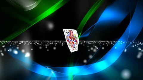 125 3d animated template for playing cards or prophecy subject Animation
