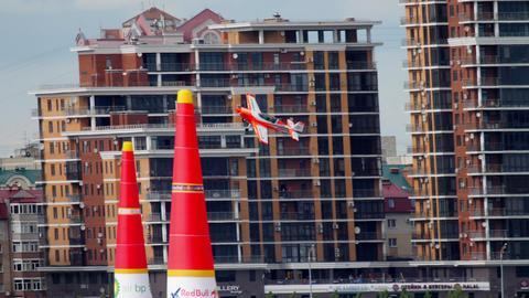 World champion performs aerobatics Footage
