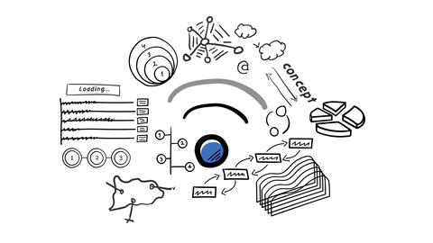 Isolated Hand Drawn Wi-Fi Animation