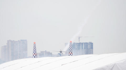 Red Bull challenge airplane at the stage GIF